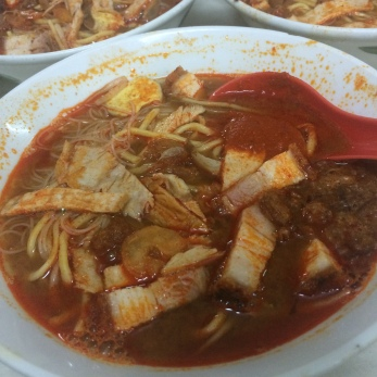 Penang Hokkien Mee with a spoonful of chilli paste